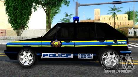 Volkswagen Golf Black South African Police para GTA San Andreas
