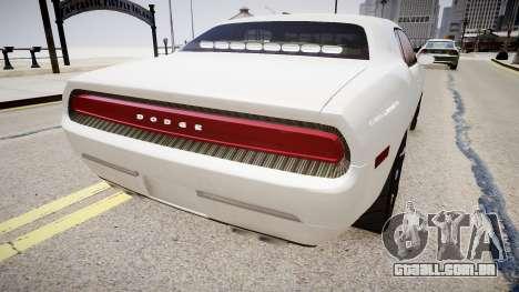 Dodge Challenger Unmarked Police Car para GTA 4