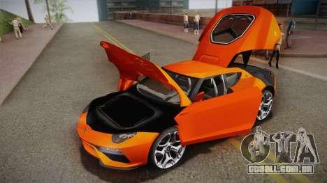 Lamborghini Asterion LPI 910-4 Concept 2016 para GTA San Andreas
