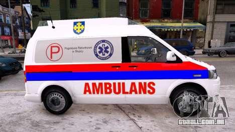 Volkswagen T5 Polish Ambulance para GTA 4