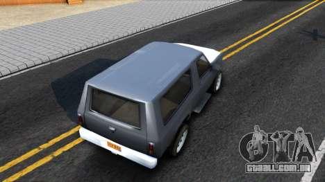 Land Roamer Driver Parallel Lines para GTA San Andreas vista traseira