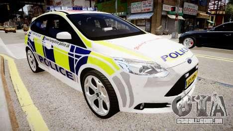 Ford Focus 2013 Swedish Police para GTA 4