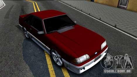 Ford Mustang 1993 para GTA San Andreas vista direita