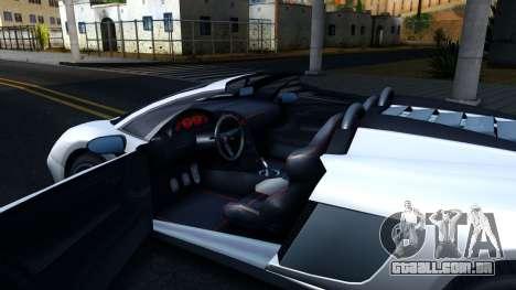 GTA V Pegassi Vacca 9F Roadster para GTA San Andreas