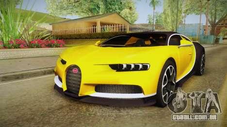 Bugatti Chiron 2017 v2 para GTA San Andreas