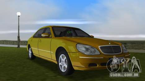 Mercedes-Benz S600 W220 para GTA Vice City vista interior
