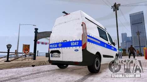 Ford Transit Polish Police 2015 para GTA 4