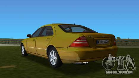 Mercedes-Benz S600 W220 para GTA Vice City vista traseira esquerda