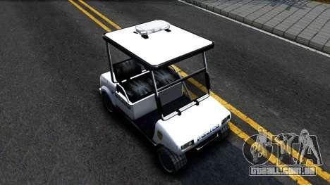 Caddy Metropolitan Police 1992 para GTA San Andreas vista direita