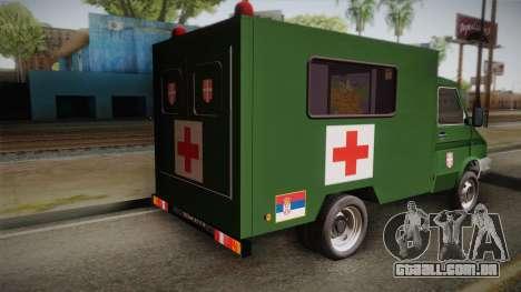 Zastava Rival Military Ambulance para GTA San Andreas