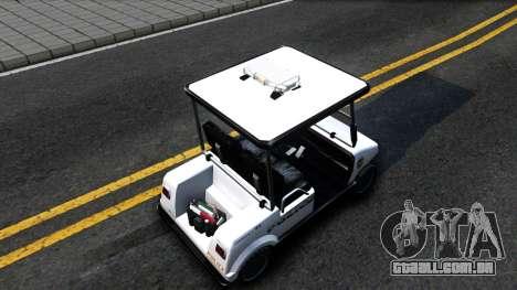 Caddy Metropolitan Police 1992 para GTA San Andreas vista traseira