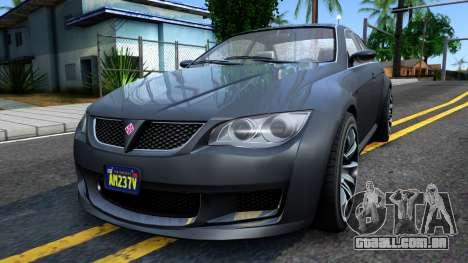 GTA V Ubermacth Sentinel Sedan para GTA San Andreas