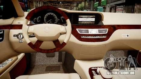 Mercedes-Benz S600 Guard Pullman 2011 para GTA 4