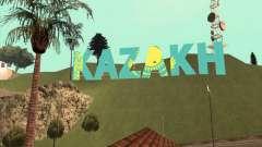 A inscrição em CAZAQUE em vez de Vinewood