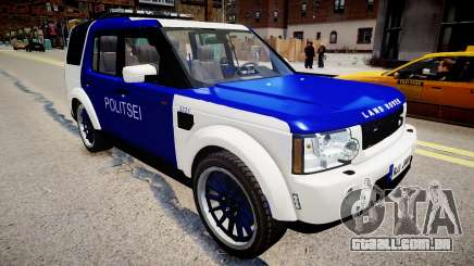 Land Rover Discovery 4 Estonian Police para GTA 4