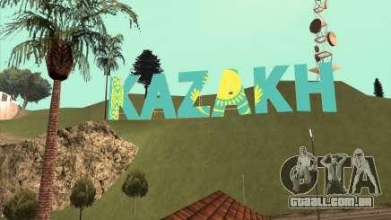 A inscrição em CAZAQUE em vez de Vinewood para GTA San Andreas
