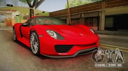 Porsche 918 Spyder 2013 SA Plate para GTA San Andreas