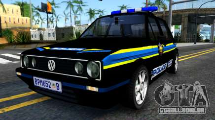 Volkswagen Golf Black South African Police para GTA San Andreas
