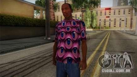 Psychedelic T-Shirt para GTA San Andreas