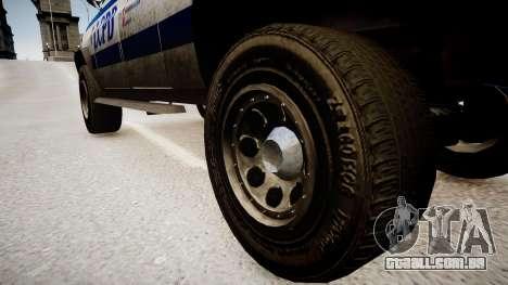 Declasse Police Ranger para GTA 4 vista de volta