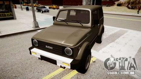 Suzuki Samurai v1.0 para GTA 4 vista direita