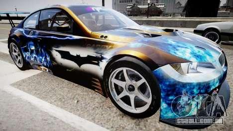 BMW M3 GT2 Ultimate Drift para GTA 4 vista direita