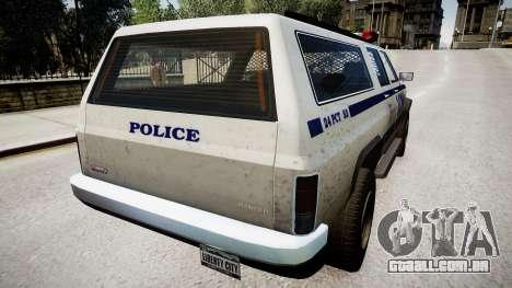 Declasse Police Ranger para GTA 4 traseira esquerda vista