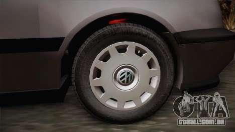 Volkswagen Golf Mk3 Stock para GTA San Andreas traseira esquerda vista