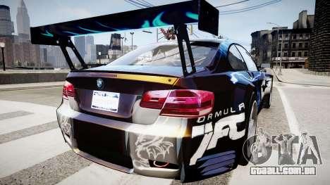 BMW M3 GT2 Ultimate Drift para GTA 4 esquerda vista