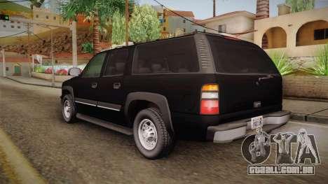 Chevrolet Suburban Z71 FBI para GTA San Andreas esquerda vista