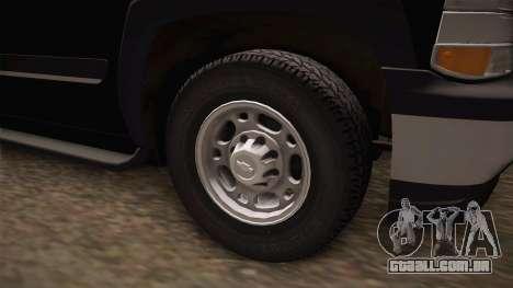 Chevrolet Suburban Z71 FBI para GTA San Andreas vista traseira