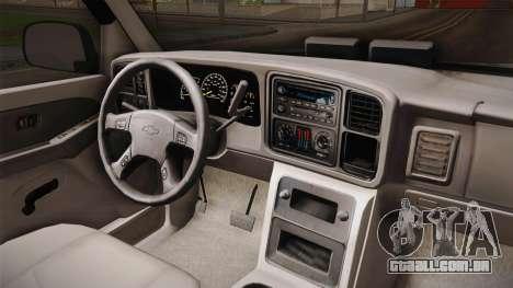 Chevrolet Suburban Z71 FBI para GTA San Andreas vista interior