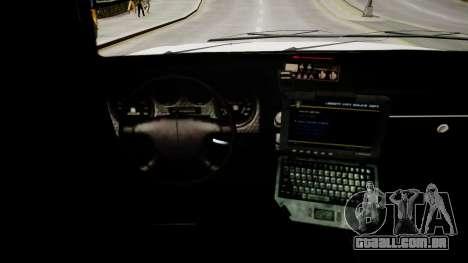 Declasse Police Ranger para GTA 4 vista interior