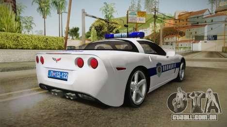 Chevrolet Corvette C6 Serbian Police para GTA San Andreas