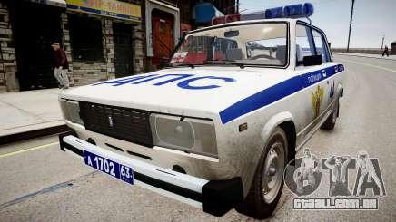 VAZ 2105 Polícia para GTA 4