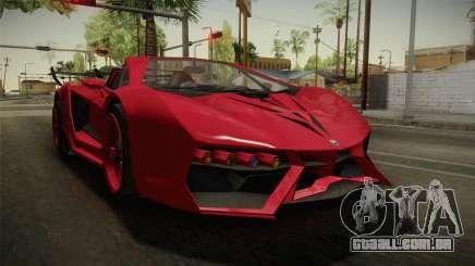 GTA 5 Pegassi Lampo Roadster para GTA San Andreas