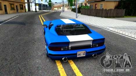New Banshee para GTA San Andreas traseira esquerda vista