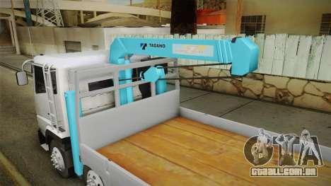 Mitsubishi Fuso 8x4 Crane SuperGreat v1.0 Fix para GTA San Andreas vista interior