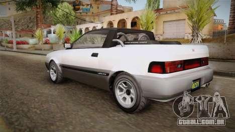 GTA 5 Dinka Blista Cabrio para GTA San Andreas