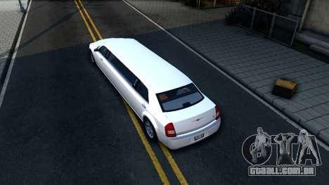 Chrysler 300C Limo 2007 IVF para GTA San Andreas vista traseira