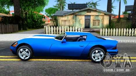 New Banshee para GTA San Andreas esquerda vista