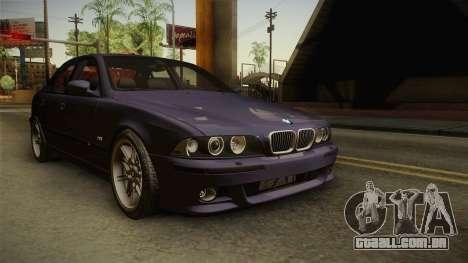 BMW M5 E39 Stock 2001 para GTA San Andreas vista direita
