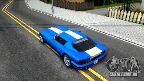New Banshee para GTA San Andreas vista traseira