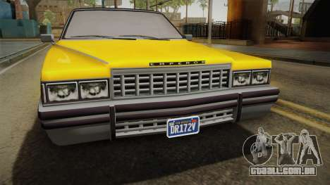 GTA 5 Albany Emperor Custom para GTA San Andreas vista direita