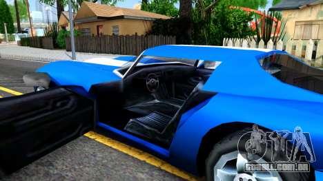 New Banshee para GTA San Andreas vista interior