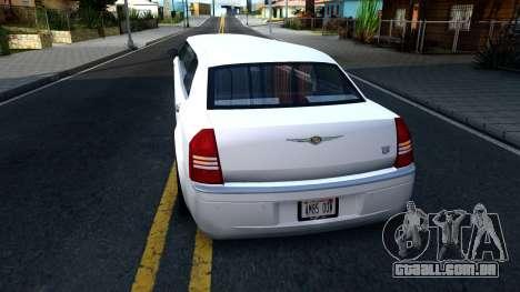 Chrysler 300C Limo 2007 IVF para GTA San Andreas traseira esquerda vista