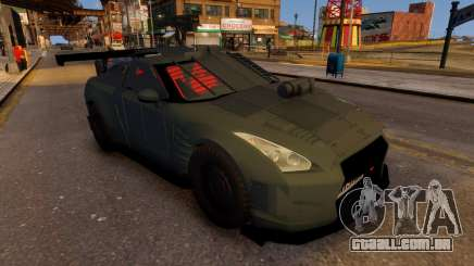 Nissan GTR Armored Grey 2017 para GTA 4