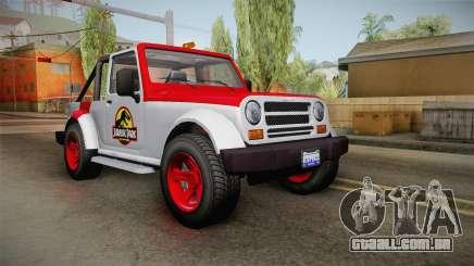GTA 5 Canis Mesa Jurassic Park IVF para GTA San Andreas