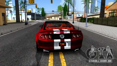 Ford Mustang Shelby GT500 2013 v1.0 para GTA San Andreas