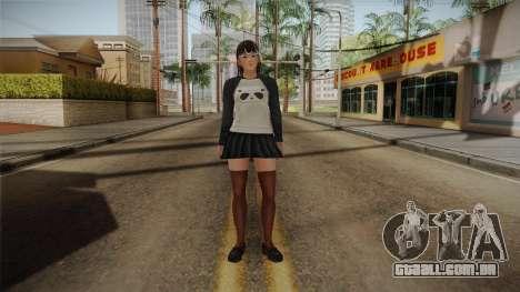 DoA 5: LR - Lei Fang Panda Shirt Long Hair para GTA San Andreas segunda tela